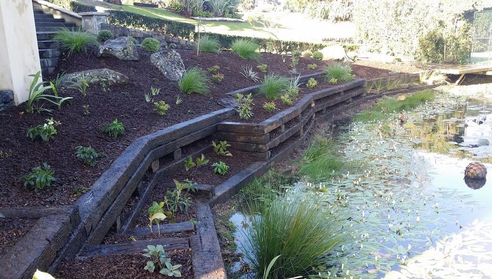 Designer gardens retaining wall