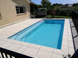 Designer gardens pool paving
