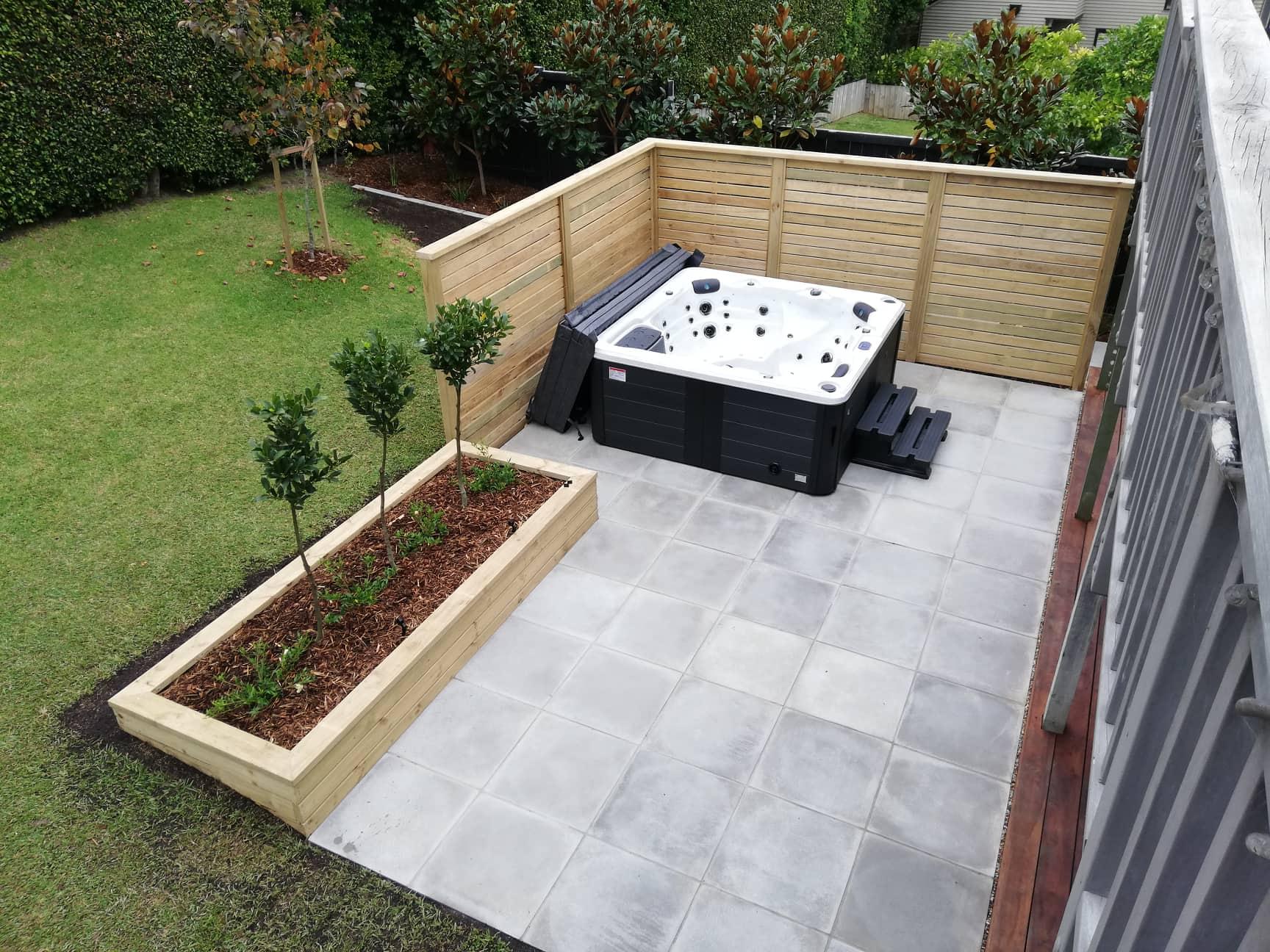 Designer gardens paving