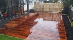 Designer gardens decking