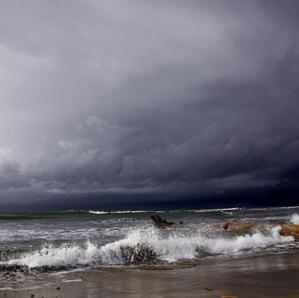 Ciel d'orage en mer