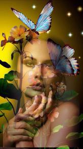 Femme aux papillons