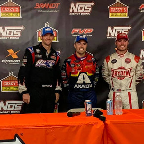 Daryn Pittman on the Podium at the Knoxville Nationals