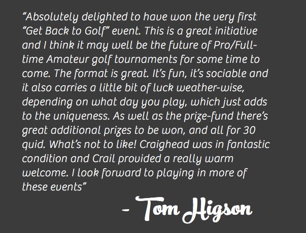 Tom Higson Crail Winner