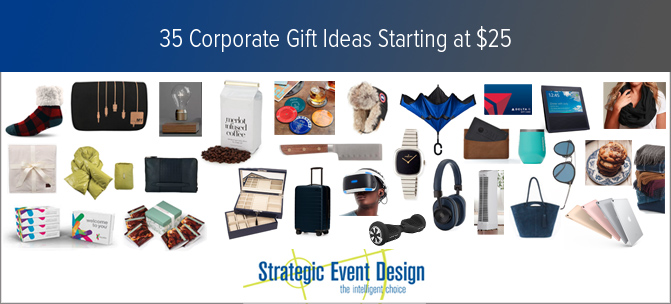 35 Gift Bag Ideas For Your Corporate Parties 25 To 1 000 Extraordinary Event Planners Nyc Strategic Design
