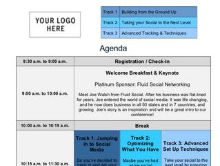 Event Agenda Sample & Tips