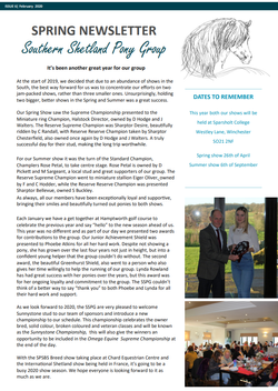 2020 Spring Newsletter