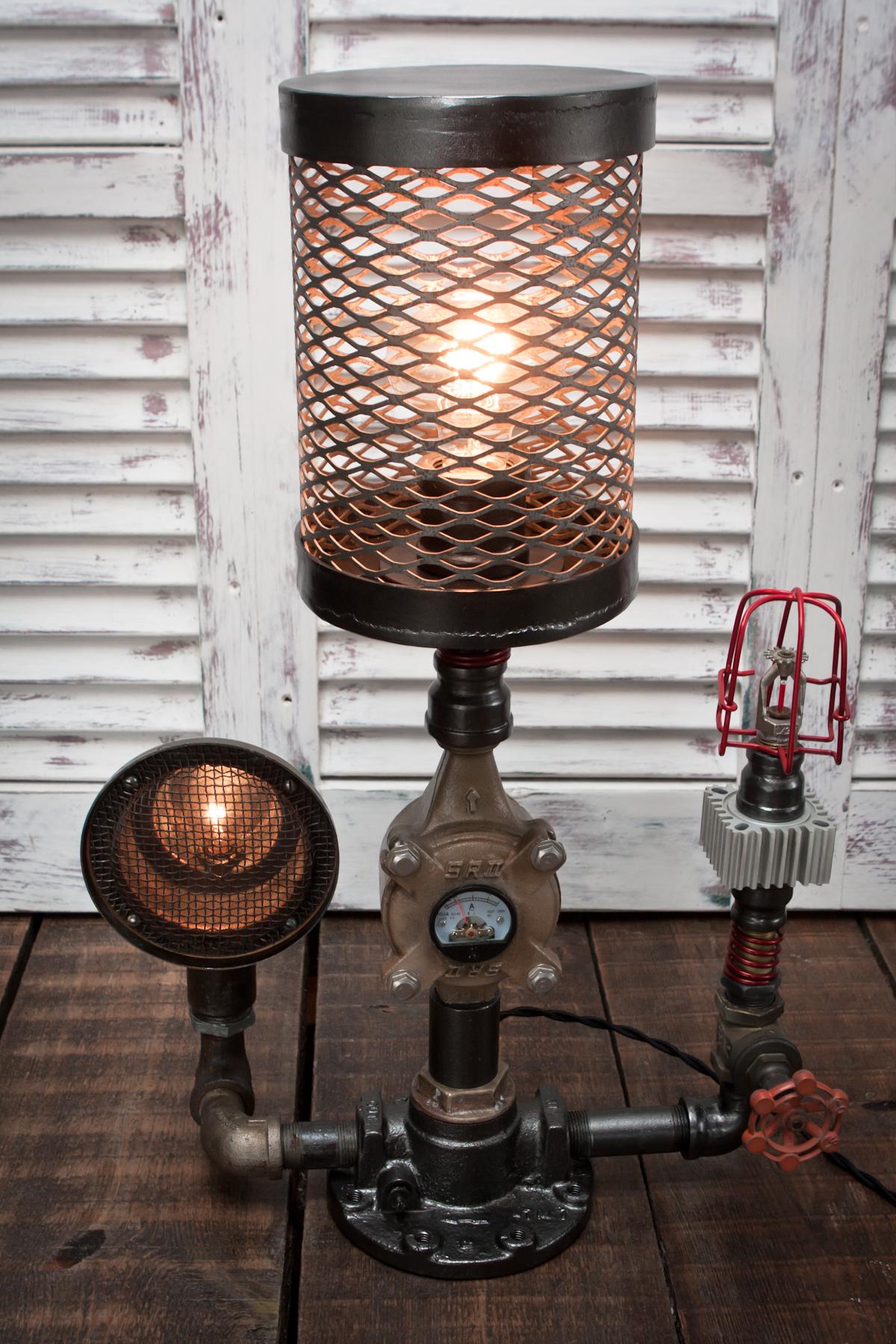 sprinklerheadsteampunklamp