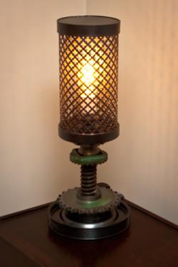 greengearssteampunklamp