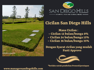 Cicilan San Diego Hills 2021, Mudah dan Ringan