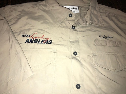 S/S Embroidered Fishing Shirt - Sand