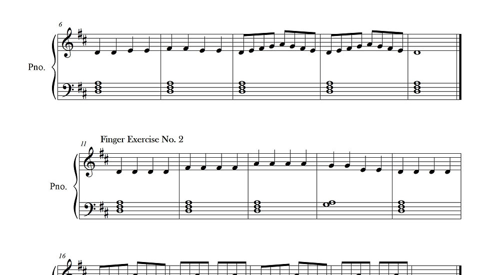 Finger Exercise Collection (24 exercises in D)