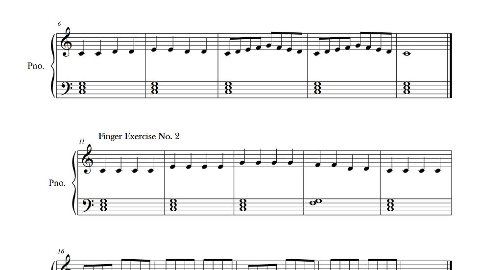 Finger Exercise Collection C major