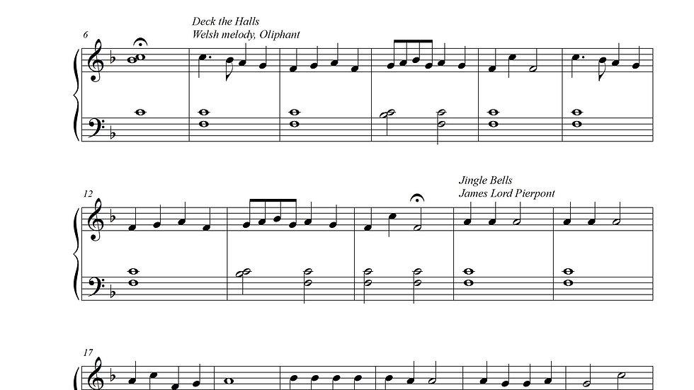 Christmas Medley (Easy Piano) Key of F