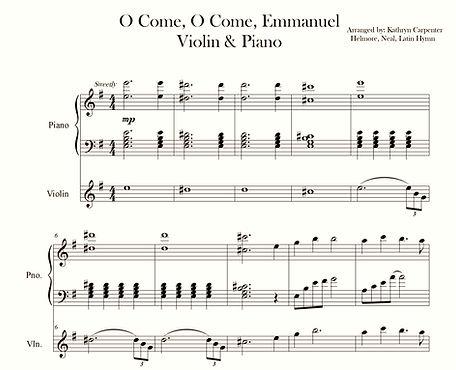O Come O Come Emmanuel with violin_edite