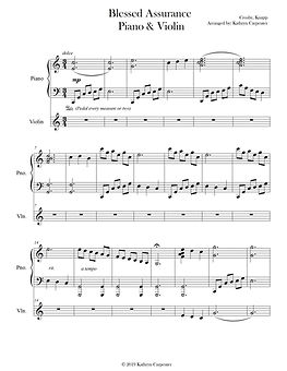 Blessed Assurance Advanced Piano & Violi