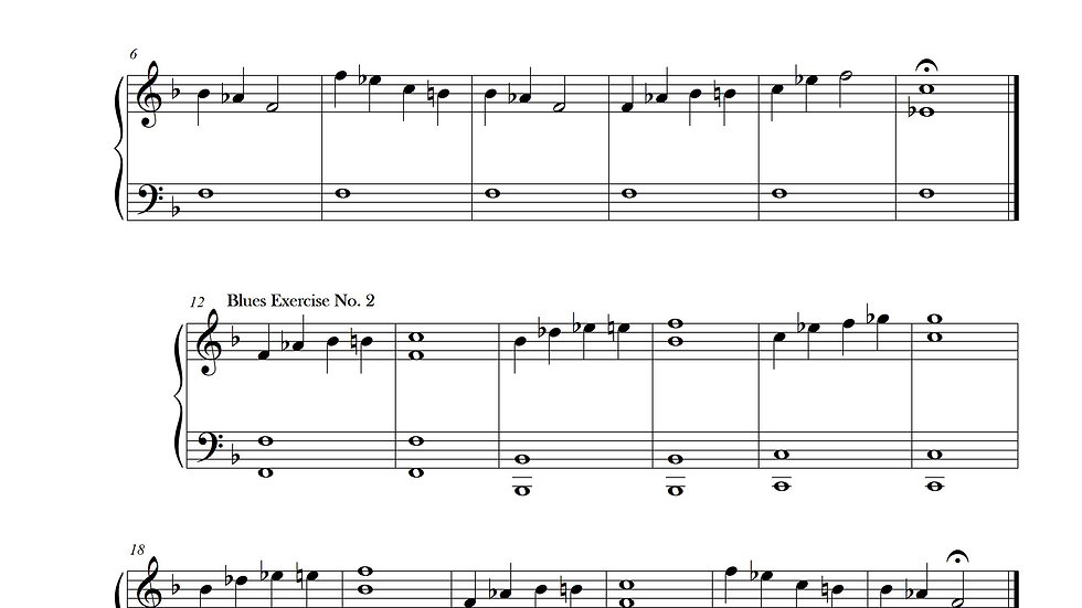 Blues Exericses No. 1-8 (F minor)