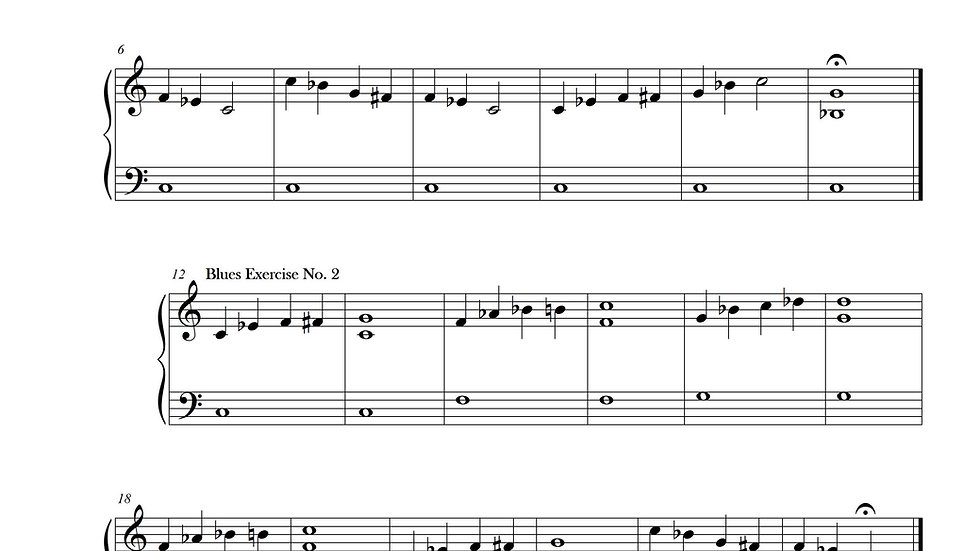 Blues Exercises No. 1-8 (C minor)