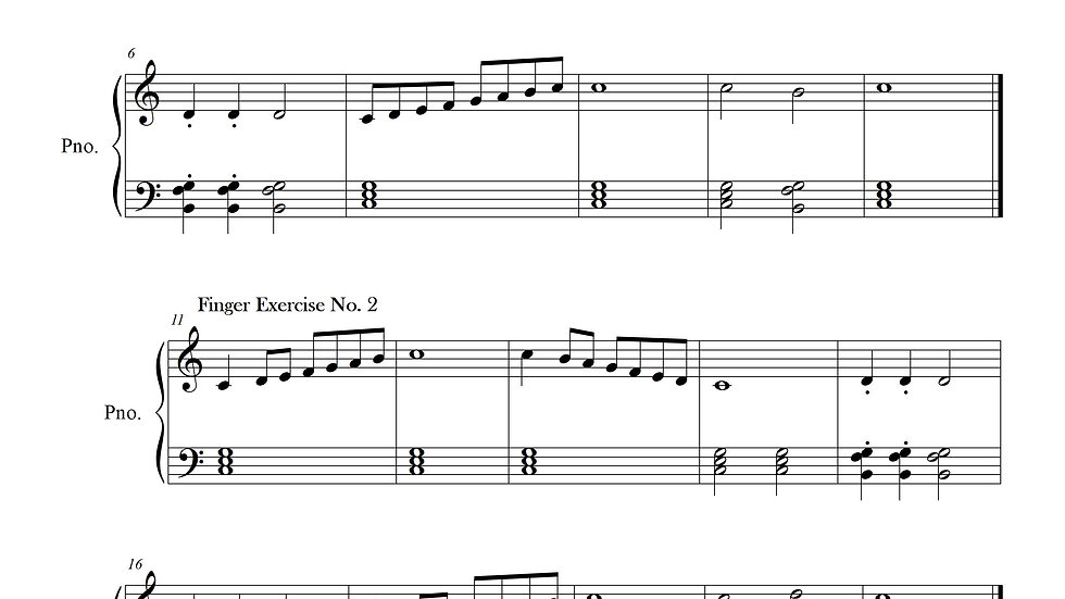 Finger Exercise Collection (C major Scale)