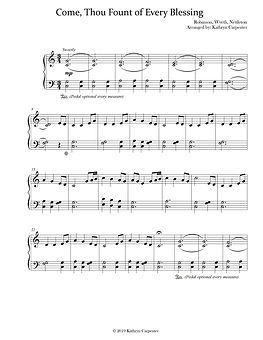 Come Thou Fount Easy Piano.jpg