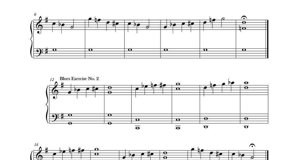 Blues Exercises No. 1-8 (G minor)