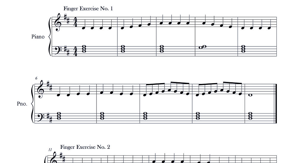 Finger Exercise Collection D major