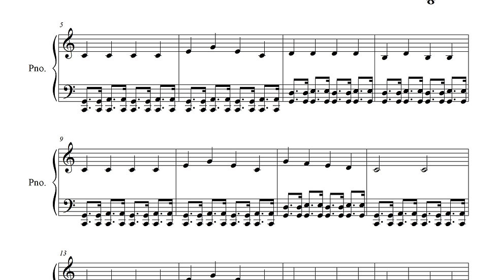 The Ten Little Indians Boogied (Ten Little Indians, Advanced Piano)