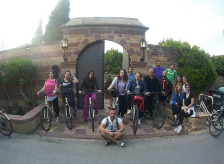 Cycling inside Kampos area!!!