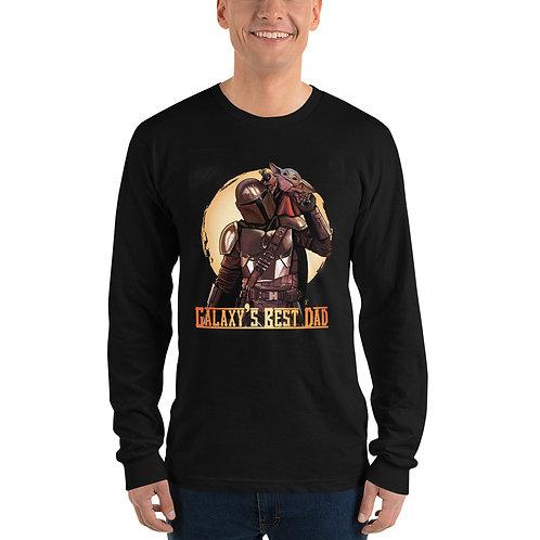 """Galaxy's Best Dad"" Long Sleeve T-shirt"