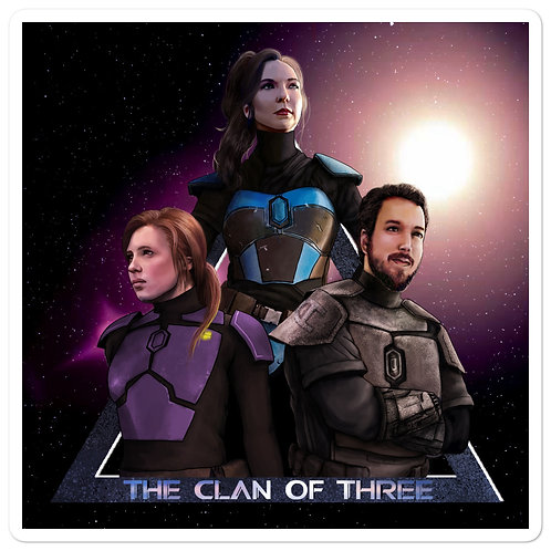 """The Clan of Three"" Sticker"