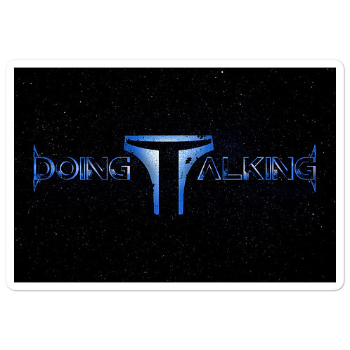 """Doing Talking"" Starry Sticker"