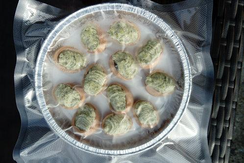 Assiette de 12 croquilles d'escargots