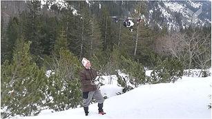 DJI INspire 1 in winter valley