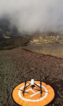 DJI Inspire 1 ready to take off on Etna