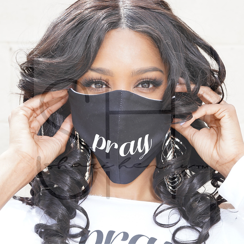 """Pray"" Fashion Face Mask"