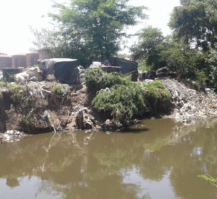 Hennops River Restoration and Clean Up Campaign - Informal settlements on the banks of the river