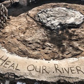 Illegal dumping & development destroying Kaalfontein Wetland & start of a 100km Hennops River hike