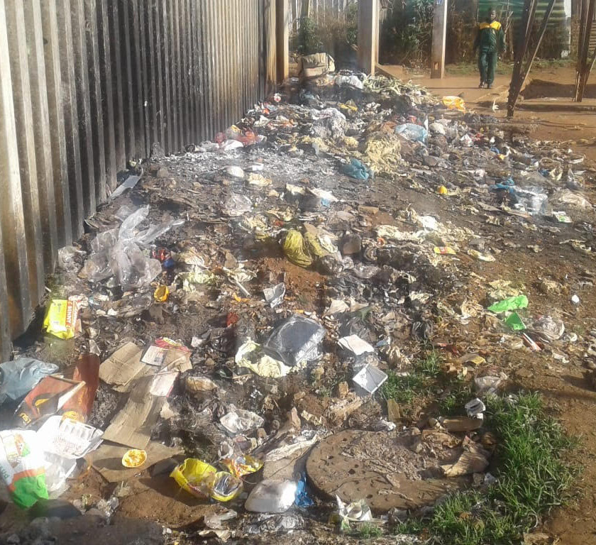 Hennops River Restoration and Clean Up Campaign - Litter lining the streets