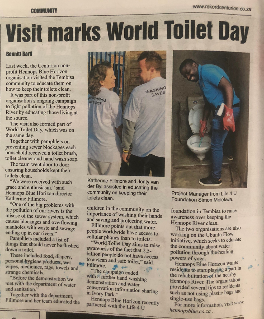 Visit marks World Toilet Day - Rekord