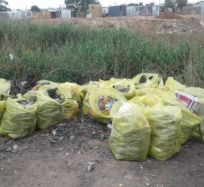 Hennops River Restoration and Clean Up Campaign - Rubble collected on day 2 of cleanup