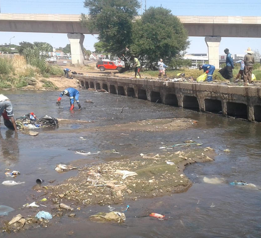 Hennops River Restoration and Clean Up Campaign - Litter removed from the river