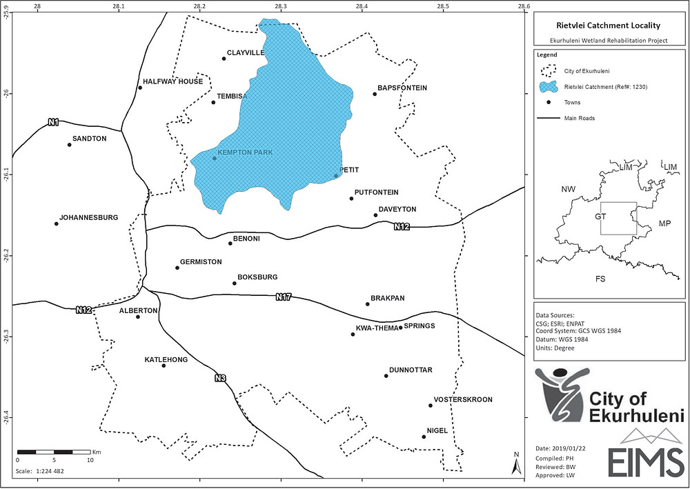 Rietvlei Catchment Rehabilitation Planning Project