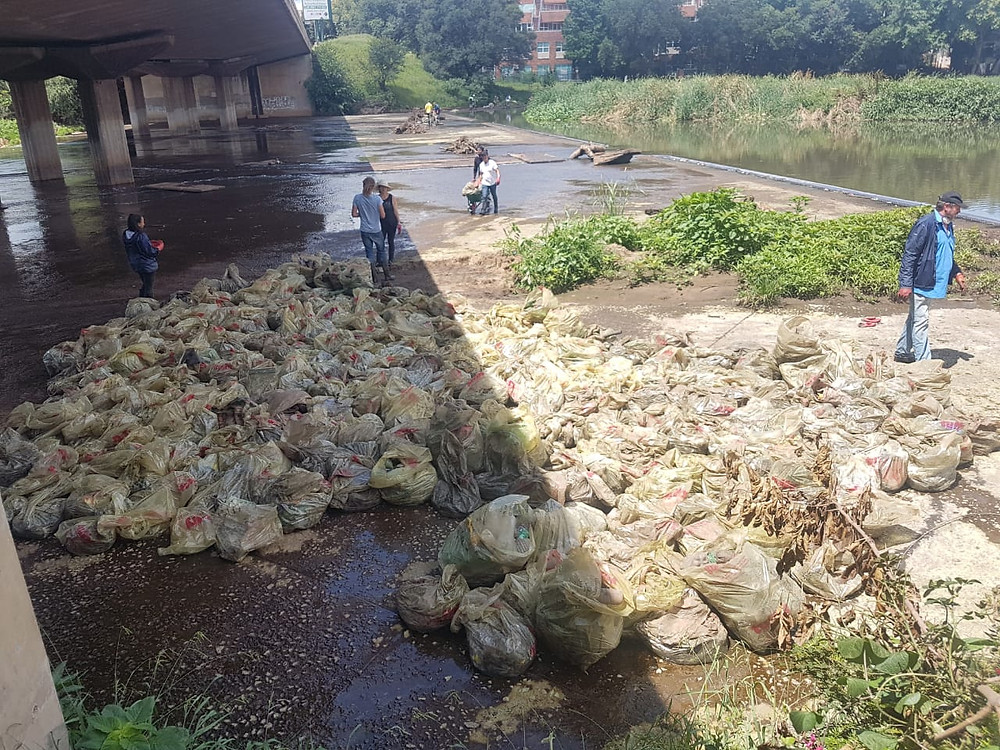 'Incredible' Hennops clean-up fills over 2 000 bags