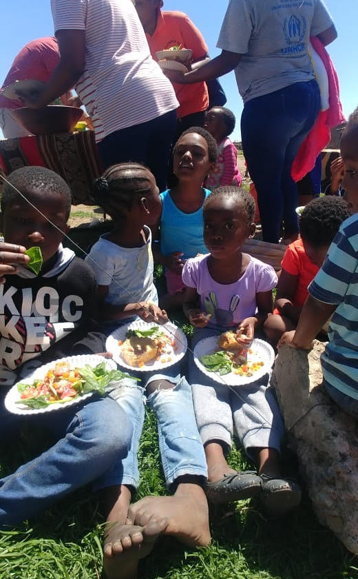 Hennops River Restoration and Clean Up Campaign - Lunch was served to the comunity volunteers
