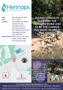 Please join us in cleaning the Hennops River on 18 May 2019