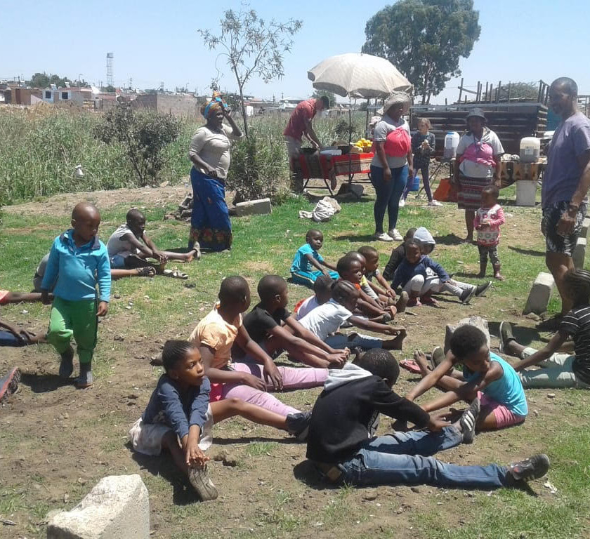 Hennops River Restoration and Clean Up Campaign - Kids enjoying yoga
