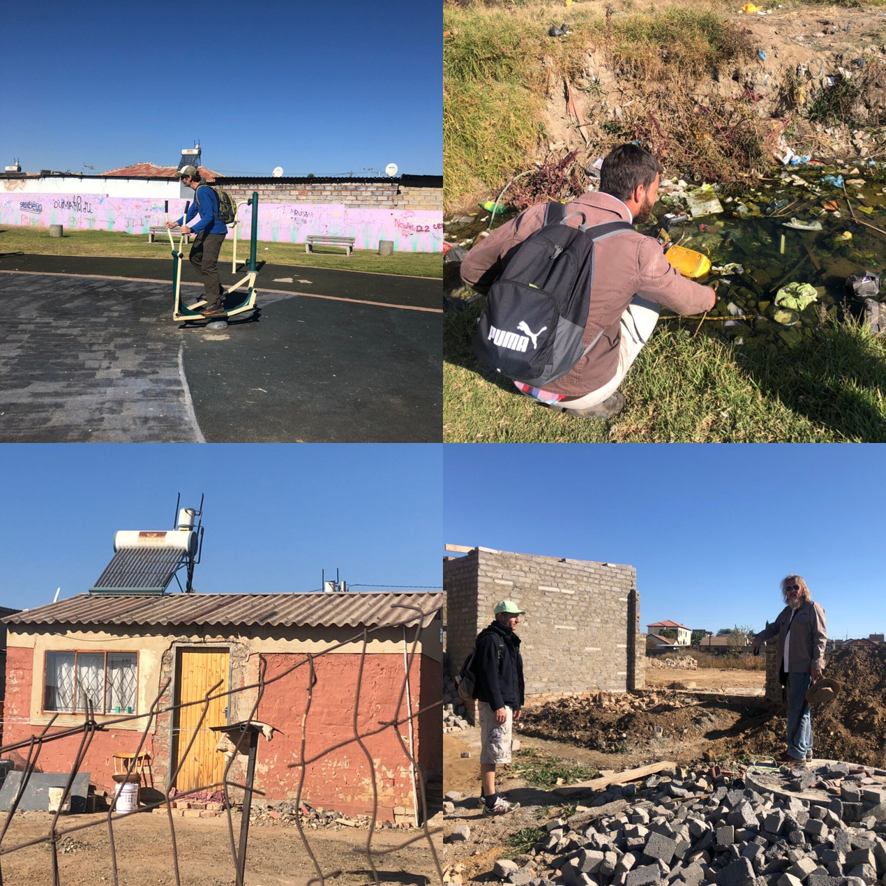 Illegal dumping and development destroying Kaalfontein Wetland and the beginning of a 100km Hennops River hike