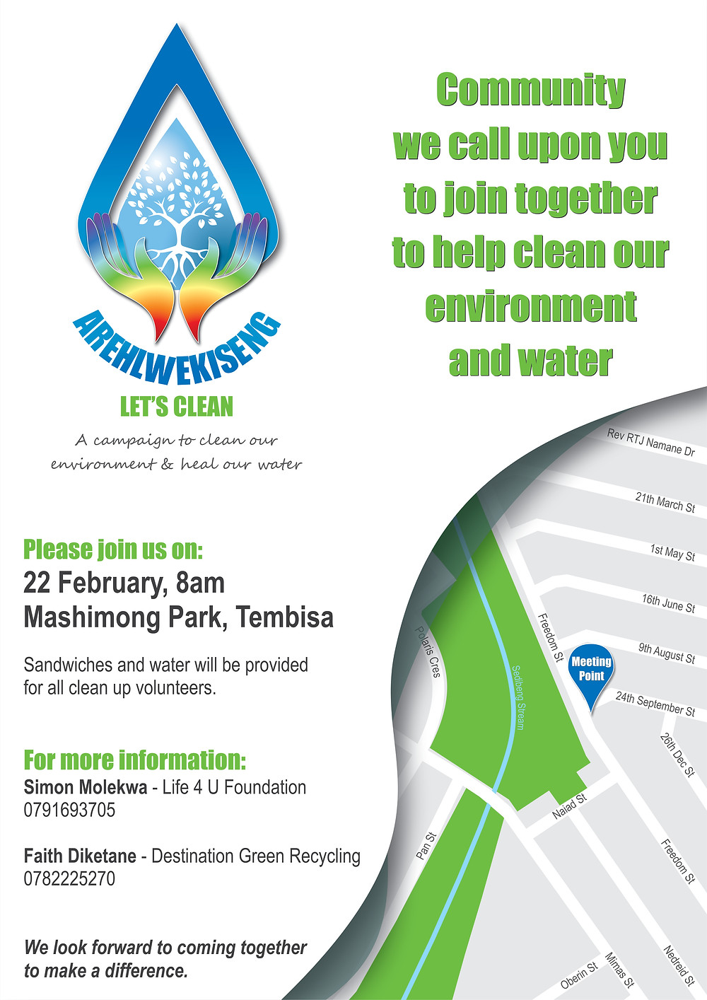 Launching the AREHLWEKISENG Let's Clean Campiagn in Tembisa