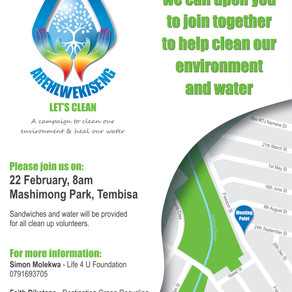 Launching the AREHLWEKISENG Let's Clean Campaign in Tembisa