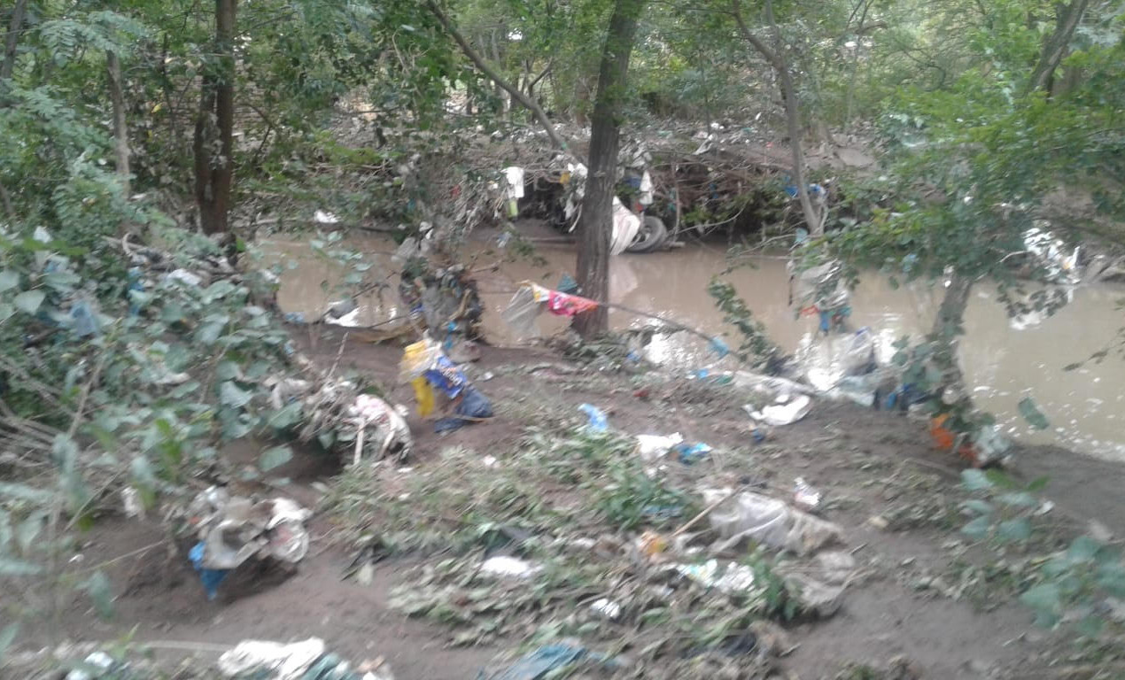 Lewende Woord Church site - The volumes of plastic waste washed up there is shocking